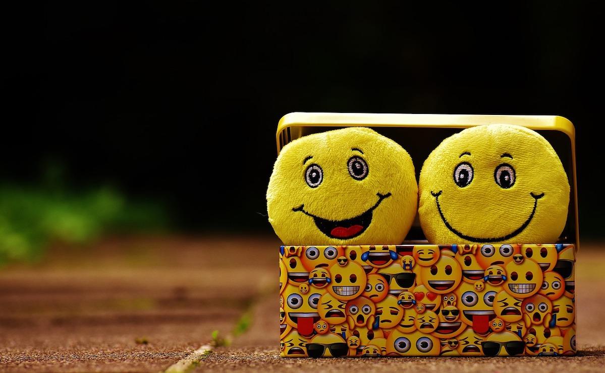 happy face emojis on a keyboard