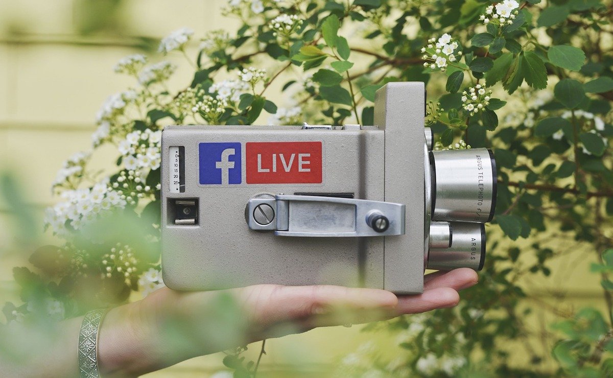 facebook live video camera in hand
