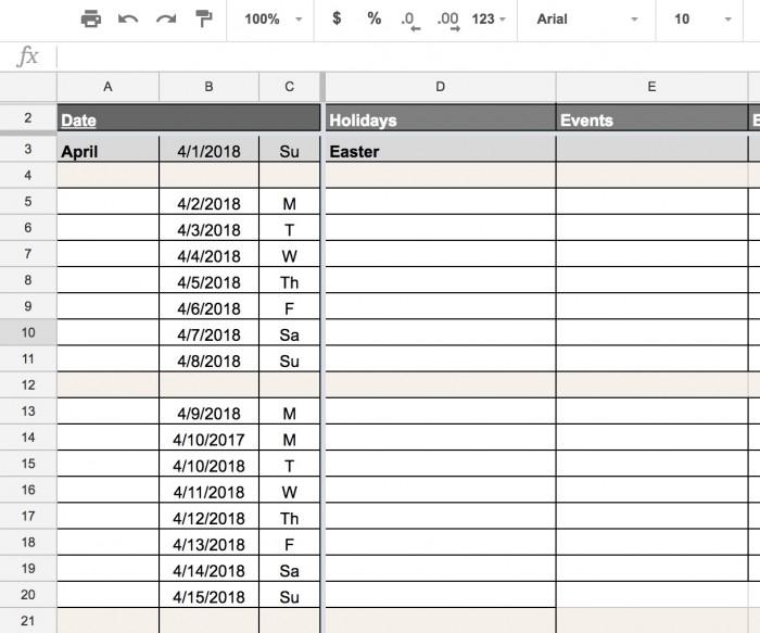 Social Media Editorial Calendar Content planning