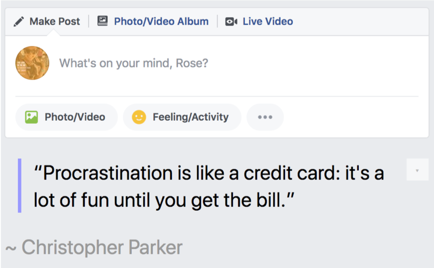 facebook news feed eradicator browser extension in action