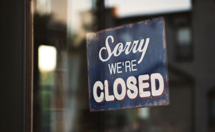 "Sorry we're closed sign in a window Should I promote my ""non-essential"" business during the Coronavirus outbreak?"