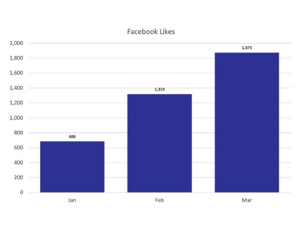 Facebook Likes chart for online presence