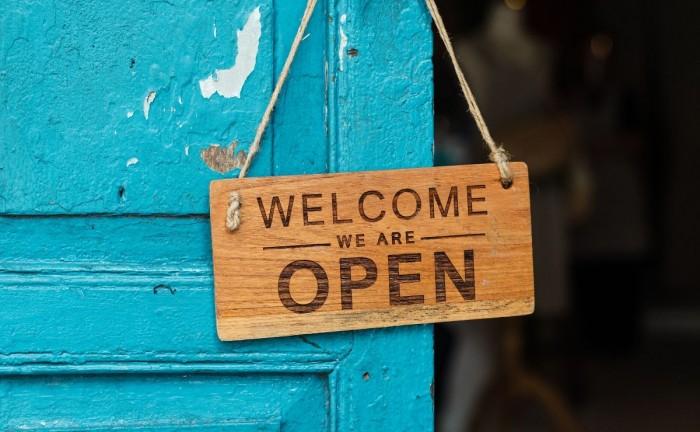 welcome sign on door reassure customers during COVID-19  How to Reassure Customers During COVID-19 Using Social Media